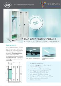 Datenblatt UV-C Gardarobenschrank